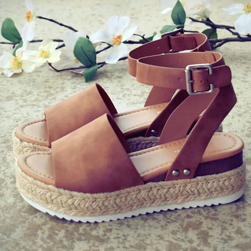 MOSHU Summer Wedges Shoes For Women High Heels
