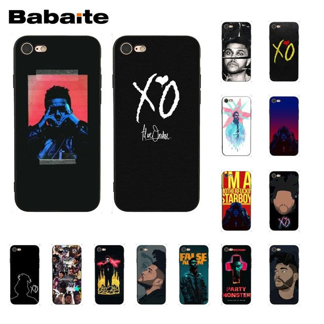 US $1 12 25% OFF|Babaite New The Weeknd Starboy Pop Singer Soft Silicone  Black Phone Case for iPhone 8 7 6 6S Plus X XS MAX 5 5S SE XR 10 Cover-in