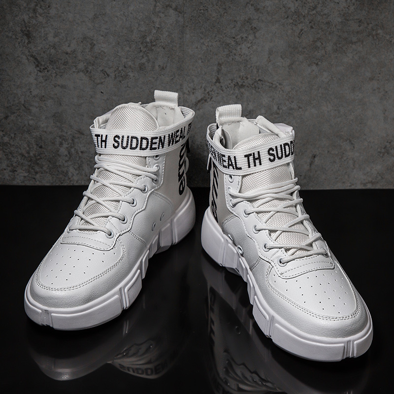 ZCDOMLER 2019 Spring Mens High Top Shoes White Sneakers Lace Up Comfortable Casual Shoes Autumn And Winter Basket Homme 39-45ZCDOMLER 2019 Spring Mens High Top Shoes White Sneakers Lace Up Comfortable Casual Shoes Autumn And Winter Basket Homme 39-45