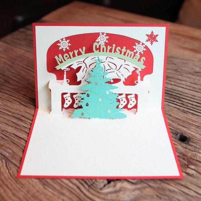 Biglietti Di Natale Di Carta.Creativo Mestiere Di Carta Albero Di Natale 3d Pop Up Biglietti Di