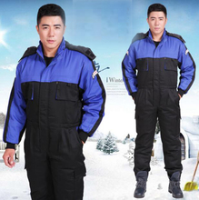 Fashion Worker Uniform Men Safety Working Clothes Winter Warm Windproof Jacket Coveralls, M/L/XL/XXL/XXXL/XXXXL Size(China)