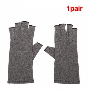 Image 2 - Hot 1 Pair Women Men Cotton Elastic Hand Arthritis Joint Pain Relief Gloves Therapy Open Fingers Compression Gloves