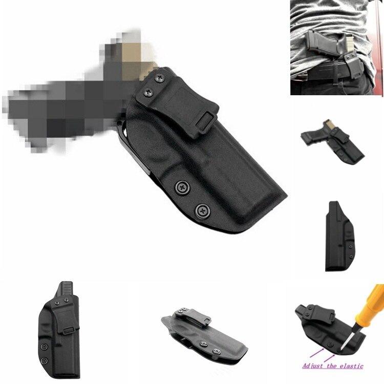 Caza Glock funda oculta llevar Kydex interior de la cintura funda para G17 G22 G31 derecho de uso de mano