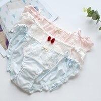Japoński strapcute muszkę świeże sexy hip bawełna tkaniny bawełnianej bielizny bielizna calcinha tanga stringi ciąg culotte femme