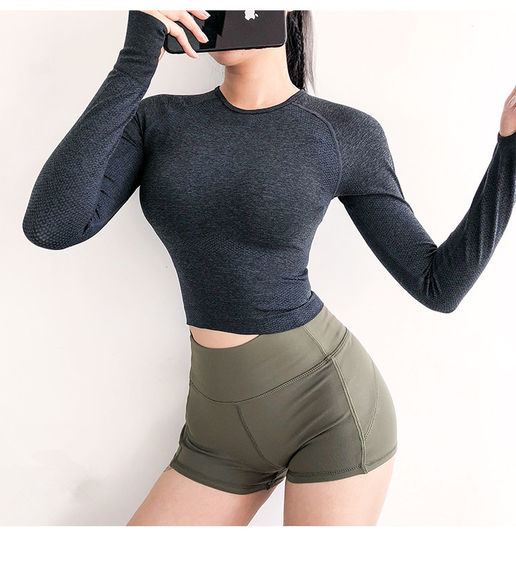 Seamless Long Sleeve Crop Top 4