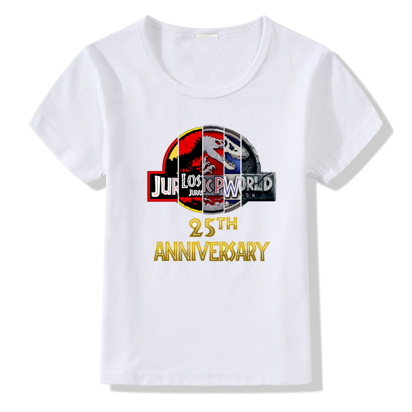 Children's Jurassic World T shirt Short Sleeve Harajuku Dinosaur Printed Summer T shirts Kids Baby Boys Tshirt Modal Tees женская футболка other 2015 3d loose batwing harajuku tshirt t a50
