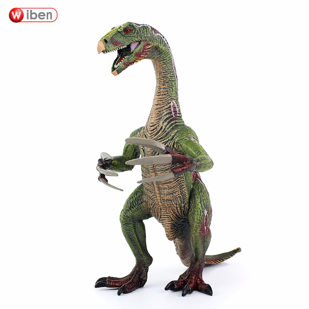Wiben Jurassic Therizinosaurus Dinosaur toy Action Figure Animal Model Collection Learning & Educational Kids Christmas Gift wiben jurassic acrocanthosaurus plastic toy dinosaur action