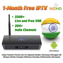India Italy IPTV X92 Box 1 month Free IP TV Turkey Africa Canada Subscription 4K Pakistan EX-YU UK