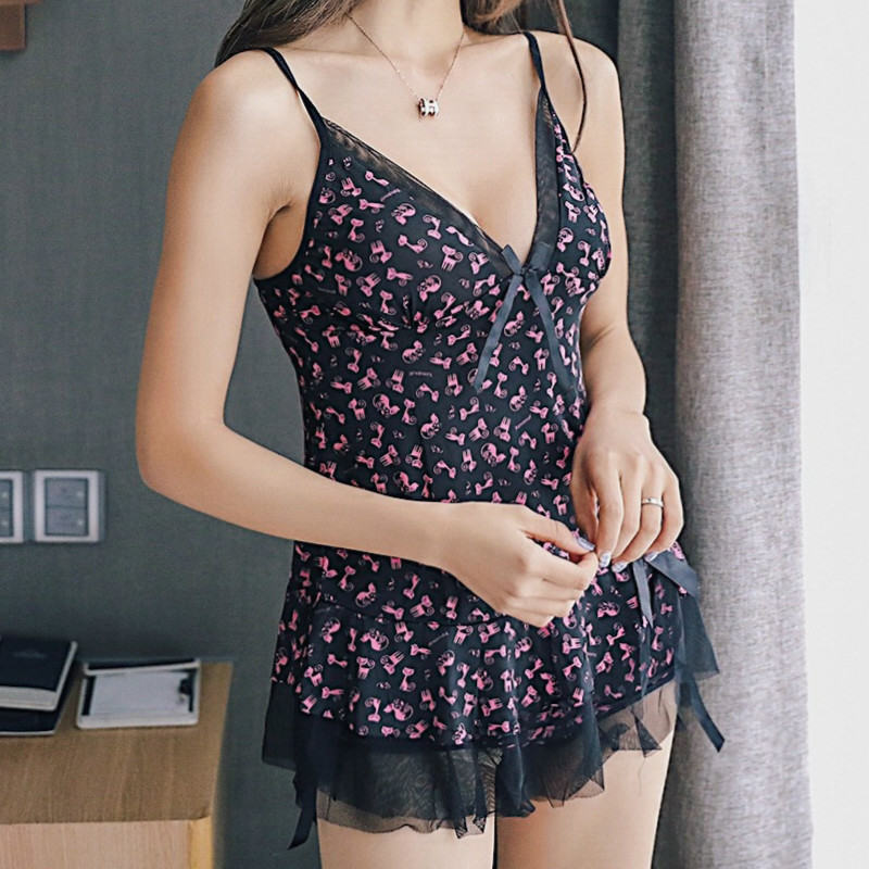 Deep V Neck Women Satin Nightgown Pijama Sexy Lace Shorts Pyjama Femme Strap Spaghetti Ladies Silk Nightwear Pajamas For Women