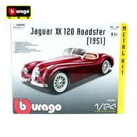 Bburago 1:24 1951 Jaguar XK 120 Roadster Assembly DIY Racing Diecast Model Kit Kits Car Toy New In Box Free Shipping 25061