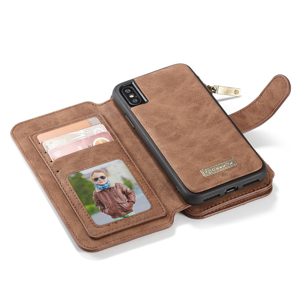 Image 2 - For iPhone XR XS Max wallet case Caseme Leather Wallet bag чехол 