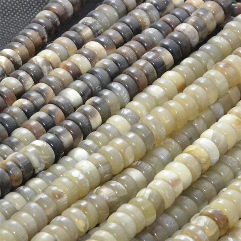 Loose-Barrel-Beads Natural 100-Beads-Lot Original And Tibet TSB0511 10x5mm Light-Color