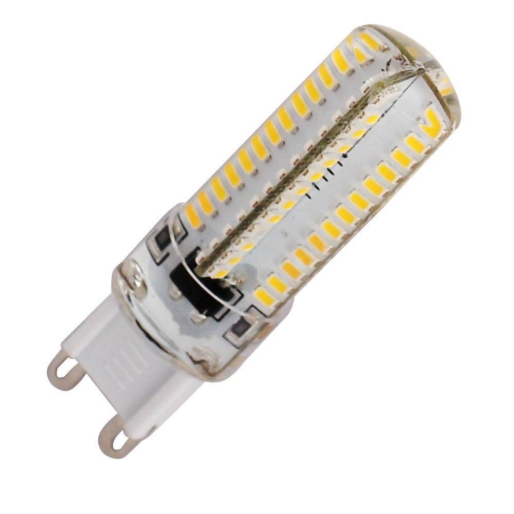 Купить с кэшбэком HRSOD 10XAmpoule G9 5W 104LED 3014SMD 220V /110V Lampe LED Corn led led bulb led lighting