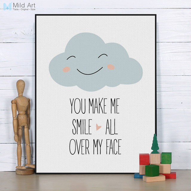 Cloud Quotes | Nordic Kawaii Love Quotes Cloud Smile Kids Baby Pictures For Living