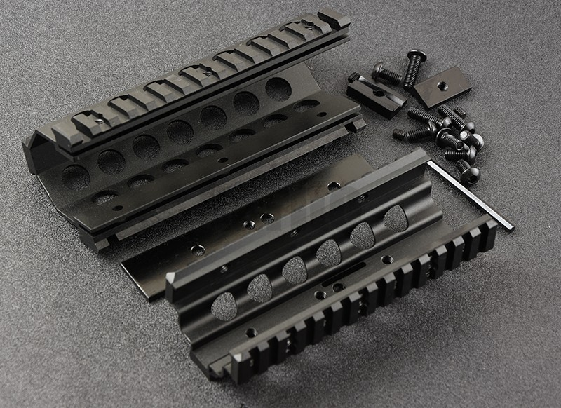 M249 Lower Upper Scope Mount Handguard 6pcs RIS Rails System Quad Rail Mount cnc M8189
