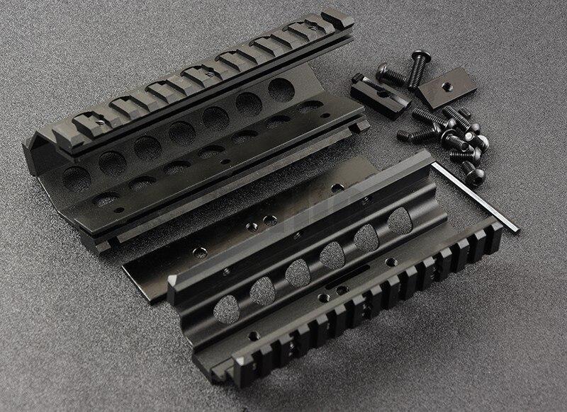 M249 Inférieur et Supérieur Monture Protège-main 6 pièces RIS Système de Rails de Rail Quadruple Support CNC M8189