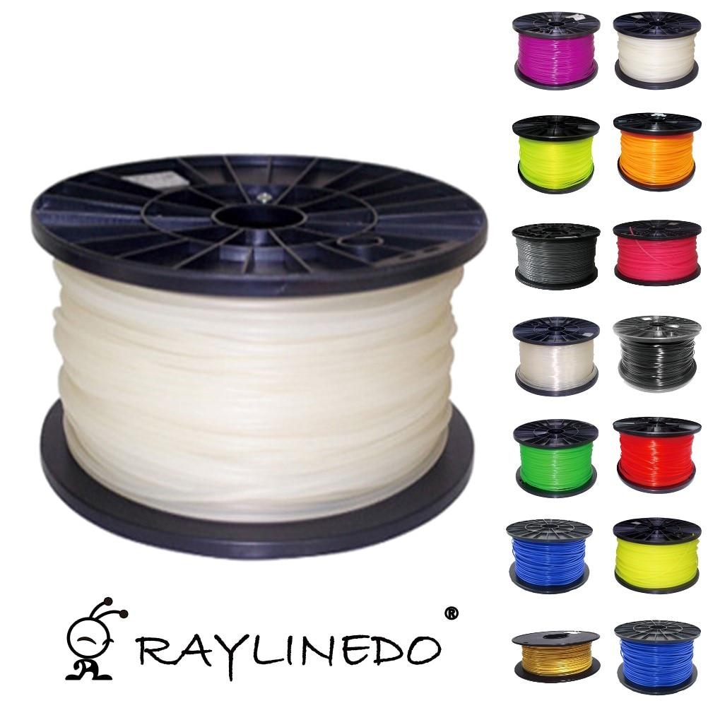 White Color 1Kilo-2.2Lb Quality PLA 3.00mm 3D Printer Filament 3D Printing Pen Materials