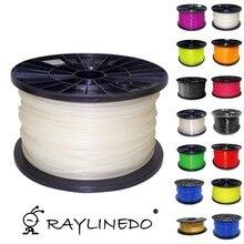 White Color 1Kilo/2.2Lb Quality PLA 3.00mm 3D Printer Filament 3D Printing Pen Materials