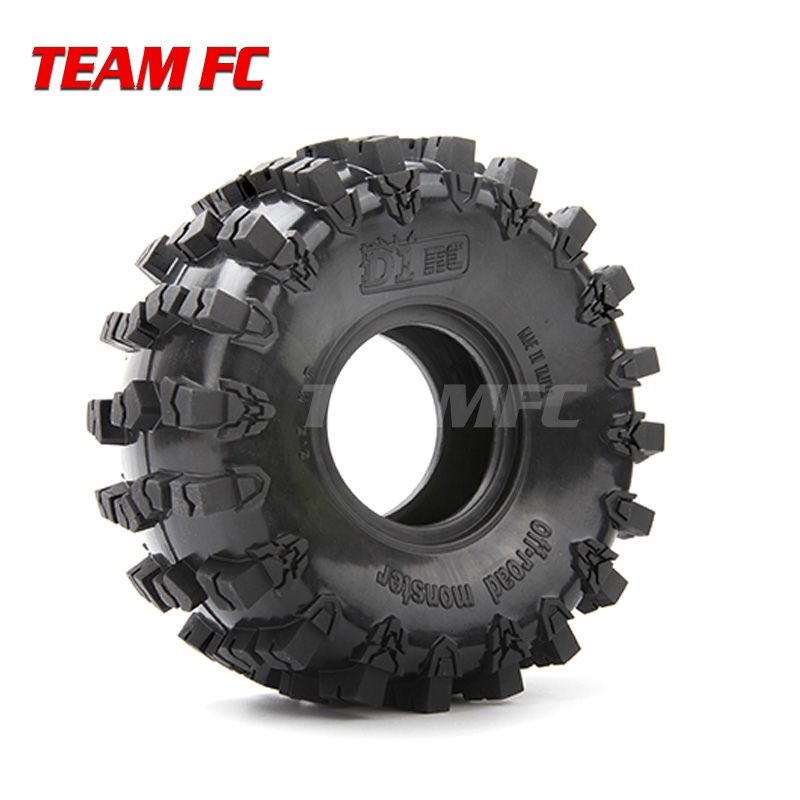 4PCS Super Grip Two-stage Sponge RC CRAWLER CAR 2.2 Inch RC Thick Wheel Tires FOR 1:8 SCALE Axial 90018 90048 90045 90031 S294
