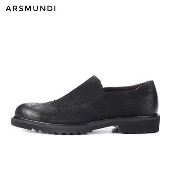 Men Genuine Leather Dress Shoes Casual Nubuck Leather Slip-on Business Shoes 2019 Men Wedding Shoes Cow Suede