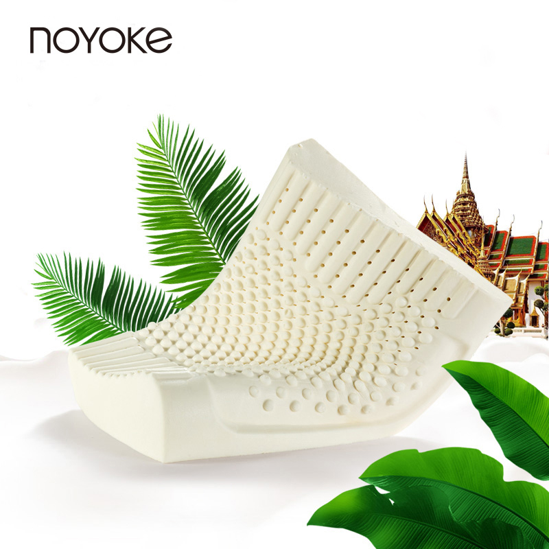 NOYOKE Natural Latex Pillow Soft Breathable Cervical Spine Protection Massage Care Pillows with Pillowcase