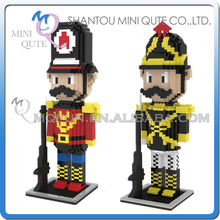 Mini Qute ZMS 2 styles Kawaii Nutcracker diamond plastic cube building block brick Cartoon educational toy