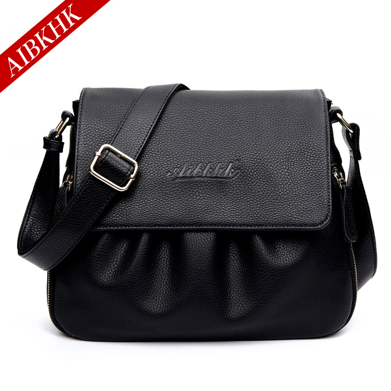 Hot Sale 2017 Fashion Women Messenger Bags Soft Cowhide Genuine Leather Crossbody Female Shoulder Bags For Women Ladies Handbags women genuine leather handbags ladies personality new head layer cowhide shoulder messenger bags hand rub color female handbags