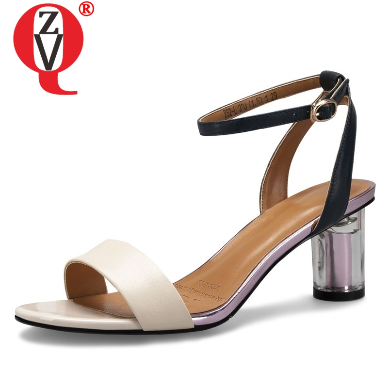 ZVQ shoes woman 2019 summer new fashion sexy high quality genuine leather woman sandals outside high
