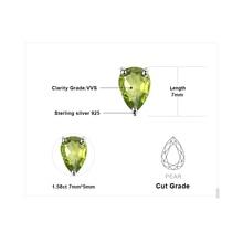 Natural Green Peridot Birthstone Solid 925 Sterling Silver Stud Earrings