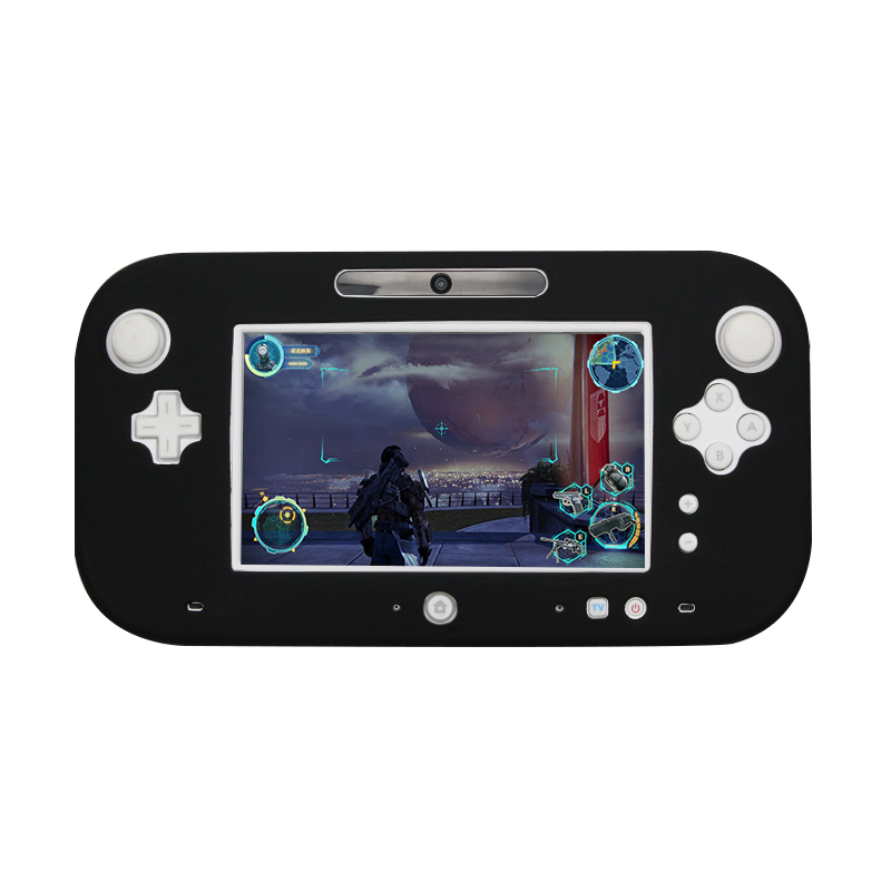 4 Colors Ultra Soft Silicone Full Body Protector Gel Case Cover Skin Shell For Wii U Gamepad