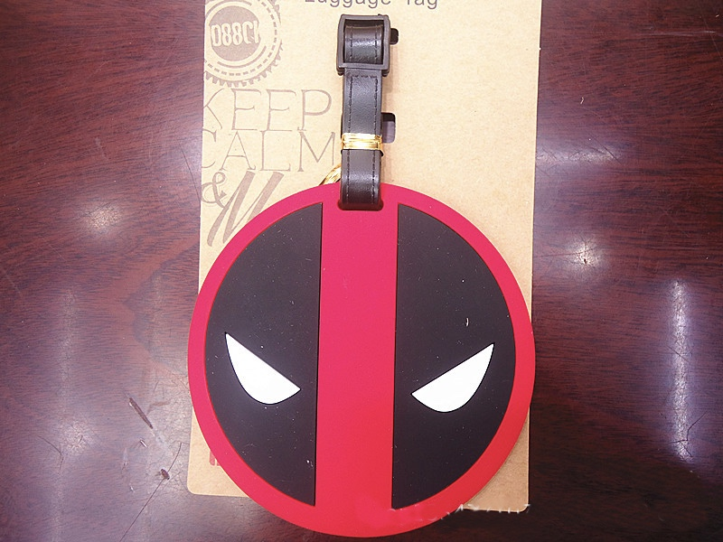 2018 New Rushed Pu Luggage Carts Luggage Cover Valiz Deadpool Luggage Tag Travel Accessories Suitcase Label Cartoon Wholesale
