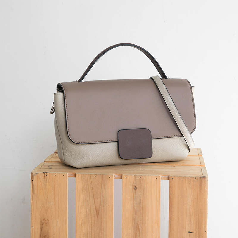 2019 Chic Fashion Korean Genuine Leather Women s Handbags Ladies Shoulder Bags Panelled Soft Elegant Crossbody