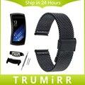 18mm venda de reloj para samsung gear fit 2 sm-r360 milanese Correa de Acero inoxidable Correa de Muñeca Pulsera de Metal Negro Oro Rosa plata