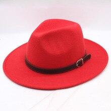 wide brim hat top mens hats fedoras Winter Autumn Imitation Woolen Women Men Ladies Fedoras Top Round Caps Bowler Hats