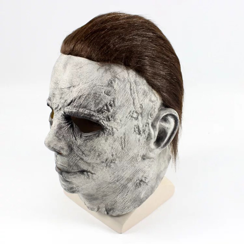 Image 4 - Halloween Hot Movie Latex Horror Michael Myers Mask Adults Cosplay Full Face Halloween Costume Party Props Masks-in Party Masks from Home & Garden