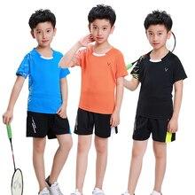 Детский Теннисный костюм Adsmoney, футболки для бадминтона, костюм для пинг-понга, Детская рубашка для настольного тенниса, шорты, комплекты для настольного тенниса