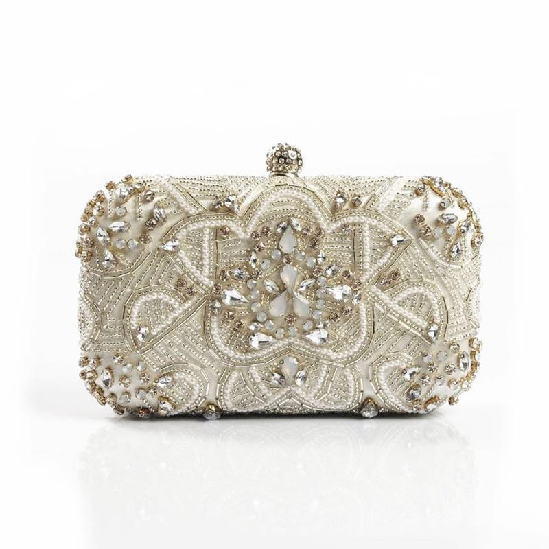 6b6ab01103b Luxury Women Evening Bags Fashion Pearl Beaded Diamond Women Evening Clutch  Bag Bridal Wedding Purse Handbag Shoulder Bag Chain-in Top-Handle Bags from  ...