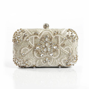Luxury Women Evening Bags Fashion Pearl Beaded Diamond Women Evening Clutch Bag Bridal Wedding Purse Handbag Shoulder Bag Chain Clutches