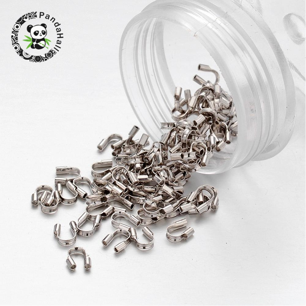 Image 3 - 2000pcs Brass Wire Guardian and Protectors Jewelry Findings nickel free, about 4mm wide, 5mm long, 1mm thick; hole: 0.5-in Jewelry Findings & Components from Jewelry & Accessories