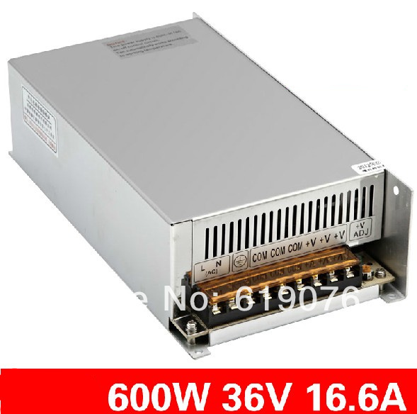 Фотография 600W 36V 16.6A 220V input Single Output Switching power supply for LED Strip light AC to DC led power supply switch S-600-36
