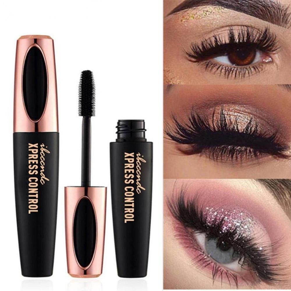 4D Silk Fiber Eyelash Mascara Waterproof Curling Eyelash Lengthener Makeup Cosmetic Black Mascara Maquiagem Rimel Pinceaux