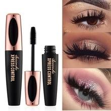 4D silk fiber eyelash mascara waterproof curling eyelash lengthener Makeup Cosmetic Black Mascara maquiagem rimel pinceaux цена