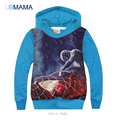 2016 the spring and autumn period and the model of children's wear fleece, red blue spiderman cartoon children fleece boy's coat