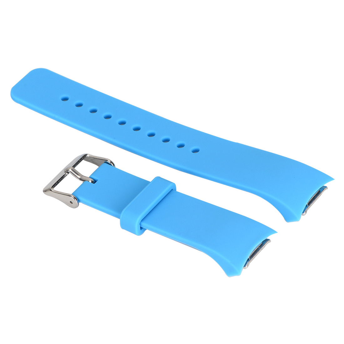 Luxury Silicone Watch Band Strap for Samsung Galaxy S2 Gear SM-R720 Sky blue 2016 silicone rubber watch band for samsung galaxy gear s2 sm r720 replacement smartwatch bands strap bracelet with patterns