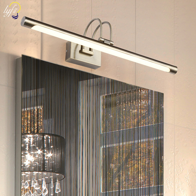lyfs 42CM Bronze Bathroom Led Mirror Light Wall Mounted LED Bathroom Vanity Make-up Wall Lights Mirror Front Lamp 85-220V