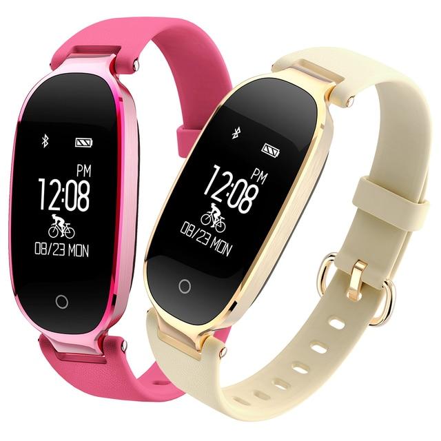 621171f16dc8 Descripción del Producto. Delante de mi reunión con Señoras reloj  inteligente de lujo las mujeres deportes pulsera banda Monitor frecuencia  cardíaca Fitness ...