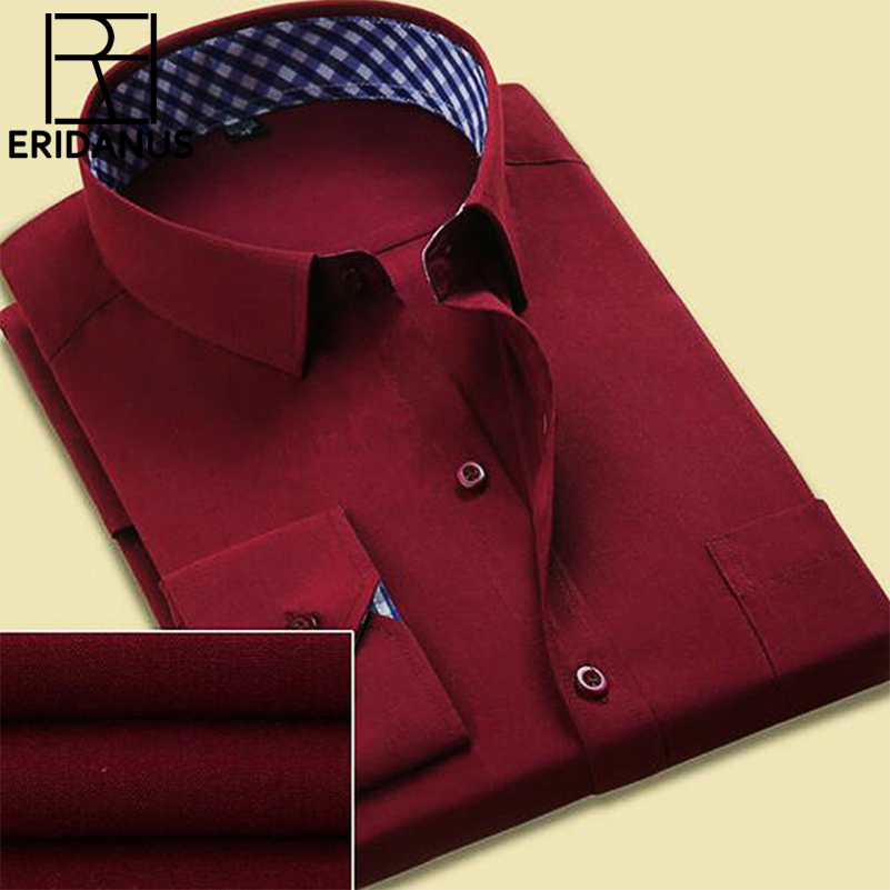 2017 New Fashion Men Shirt Patchwork Plaid Langarmshirts Slim Fit Casual Dress Herren Herrenhemden Social Design Plus Größe 4xl X110