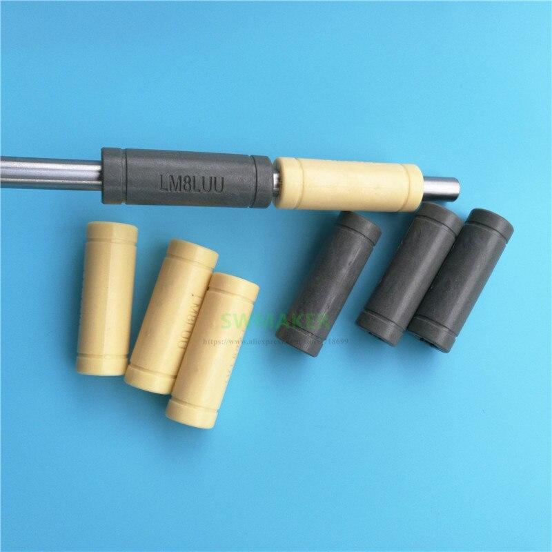 2pcs Solid Polymer LML8UU Linear Bearings Bushing LM8LUU 8MM 8*15*45mm Prusa for Mendel DIY CNC machine Pulleys  - AliExpress