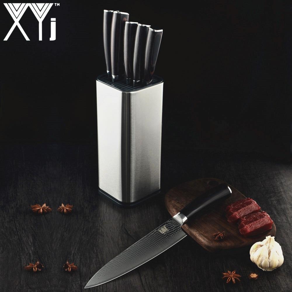 """Ev ve Bahçe'ten Mutfak Bıçakları'de Yeni Varış 2019 XYj Mutfak Bıçağı 3.5 """"5"""" 5 """"7"""" 8 """"8"""" Şam Bıçakları VG10 Çekirdekli Japon Şam Çelik Desen mutfak gereçleri'da  Grup 2"""