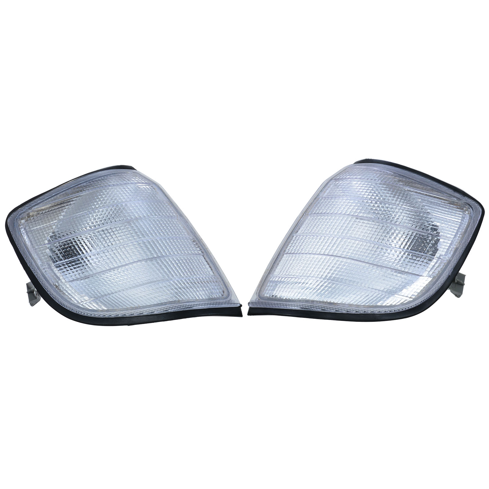 1 Pair Car Left Right Side Turn Signal Corner Light Clear Lens Lamp Replacement for Mercedes